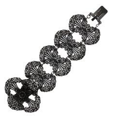 A wide and Fanciful Georgian Berlin Iron Bracelet