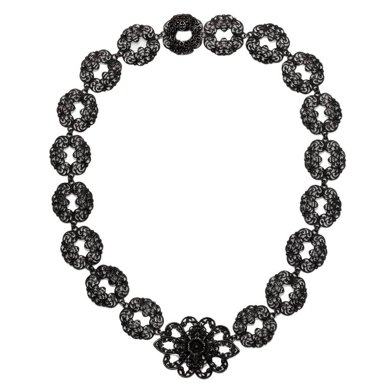 Phenomenal Berlin Iron Necklace, circa 1820-1830