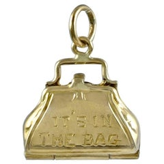 It's In The Bag Gold Purse Charm