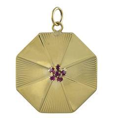 Tiffany & Co. Ruby Gold Charm/Pendant