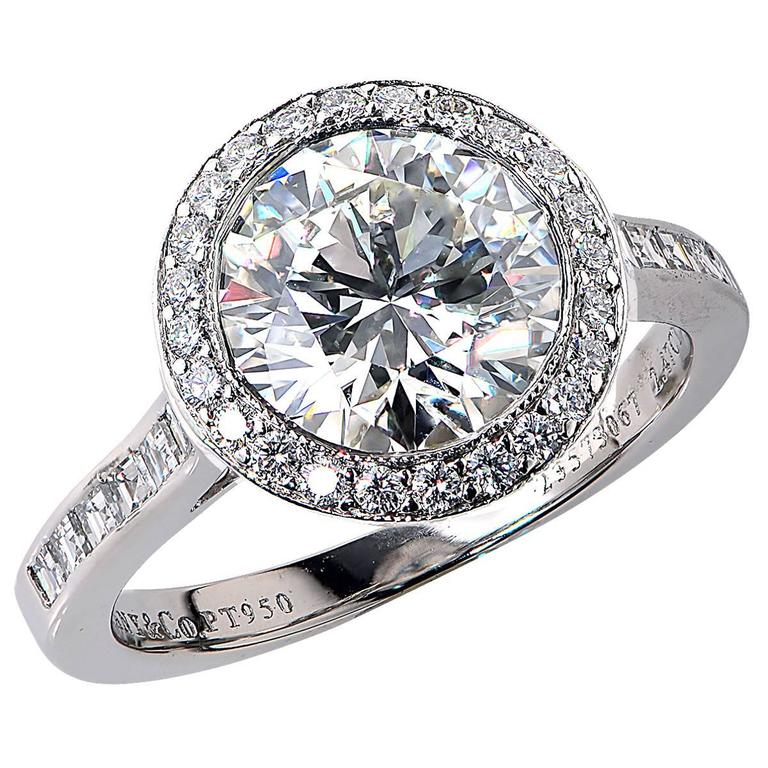25f02cb08 Tiffany and Co. 2.47 Carat Diamond Platinum Engagement Ring at 1stdibs