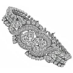 Mid-20th Century Diamond Platinum Bracelet