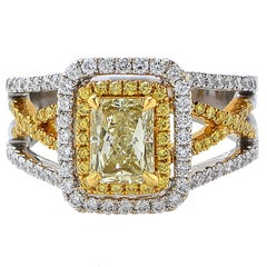 GIA Certified 1.11 Carat Fancy Color Diamond Ring