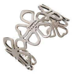 Tiffany & Co. Elsa Peretti Sterling Silver Hibiscus Cuff Bracelet