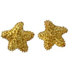 TIFFANY & CO. Gold Starfish Earrings