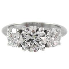 3 Stone Diamond Platinum Ring