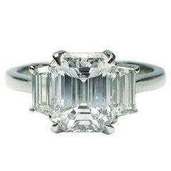 J. Birnbach GIA Certified 2.06 Carat D VS2 Emerald Cut Diamond Ring
