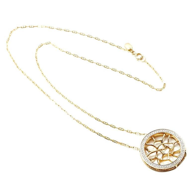Diamond Gold Web Necklace