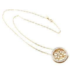 18K Gold and Diamond Web Necklace by John Brevard