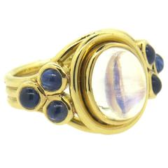 Temple St. Clair Paolo Moonstone Sapphire Gold Ring