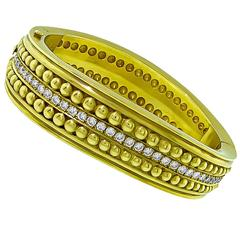 Vahe Naltchayan Diamond Gold Bangle Bracelet