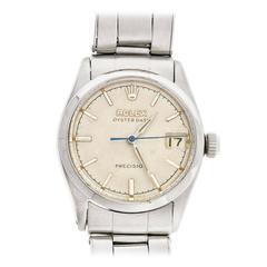 Rolex Stainless Steel Oysterdate Precision Wristwatch Ref 6466