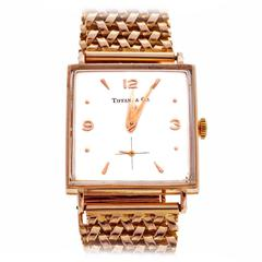 Tiffany & Co Rose Gold Universal Geneve Wristwatch