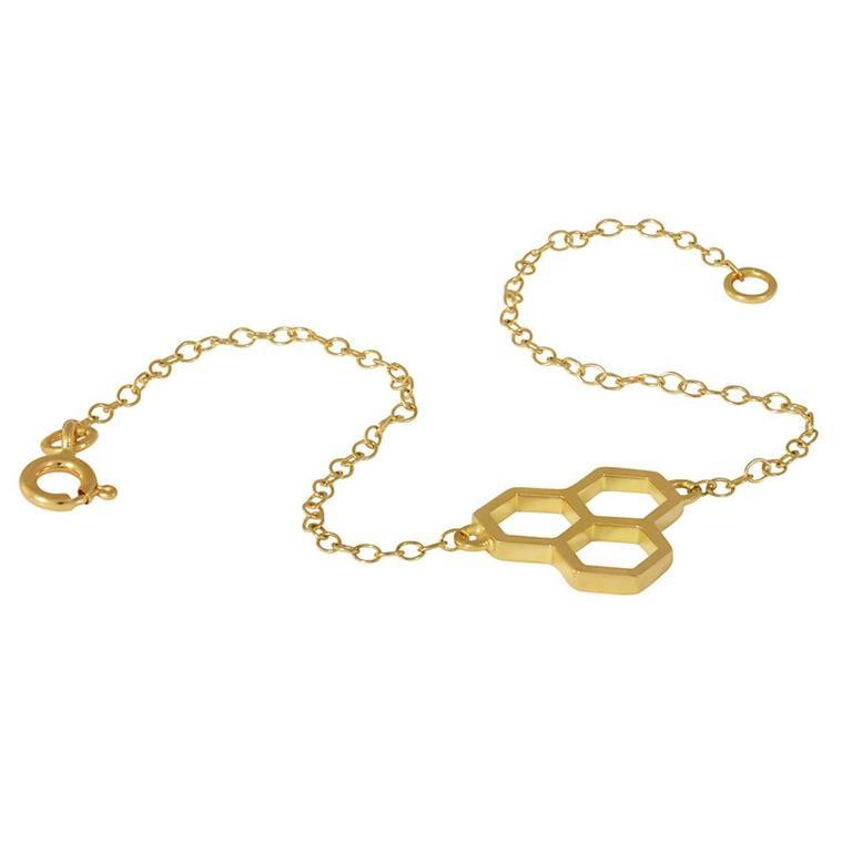 TPL Gold Honeycomb Chain Bracelet