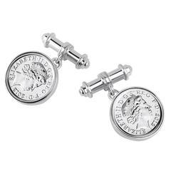 TPL Silver Coin Cufflinks