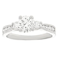 Beautiful 1.0 Carat Platinum Engagement Ring GIA Report