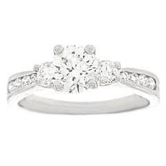 Beautiful 1.0 Carat Platinum Engagement Ring GIA Report