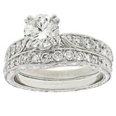 1.01 Carat GIA Certified Diamond Platinum Engagement Ring