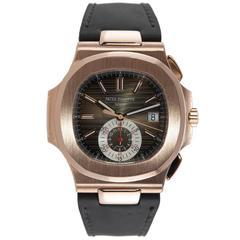 Patek Philippe rose gold Nautilus Chronograph Wristwatch ref 5980R