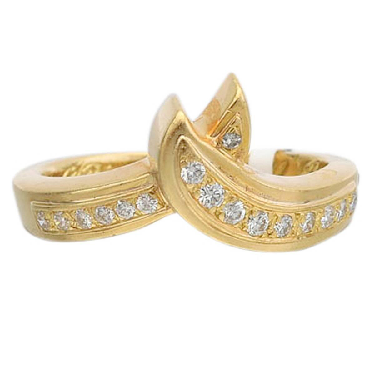gold entwined ribbon band ring at 1stdibs