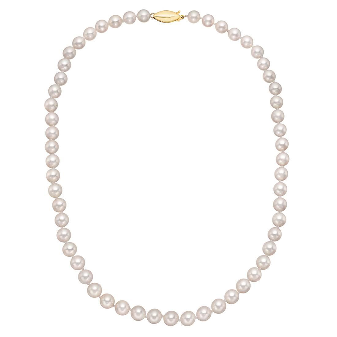 Cultured pearls necklace : Graduated to mm cultured pearl necklace at stdibs
