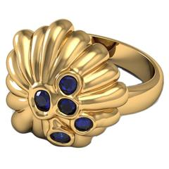 Barbara Nanning & Sparkles Sapphire and Gold Ring