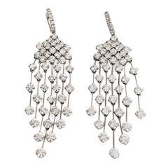 "16.5 Carat Diamond Gold ""Red Carpet"" Drop Earrings"