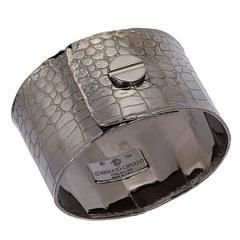 Black Rhodium Sterling Silver Cuff with Screw