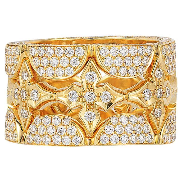 Renato Cipullo Diamond Gold Stacking Rings 1