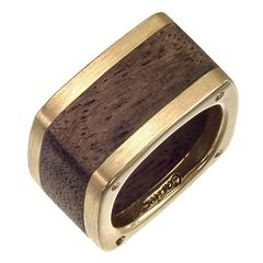 Cartier ​Gold Wood Dinh Van Band Ring
