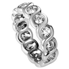 Van Cleef & Arpels White Gold Diamond Eternity Band Ring