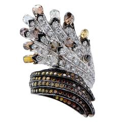 6.22 Carats Fancy Color Diamond Gold Ring