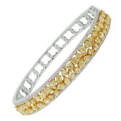 Fancy Yellow Diamond gold Bangle Bracelet