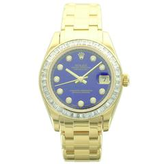 Rolex Lady's Yellow Gold Datejust Pearlmaster Wristwatch Ref 81308BR