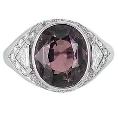 Alexandrite Diamond platinum Ring
