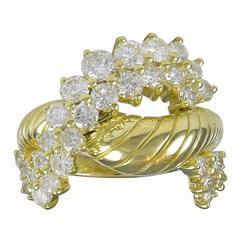 Round Brilliant Diamond Gold  Ring