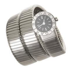 Bulgari Stainless Steel Serpenti Quartz bracelet Wristwatch