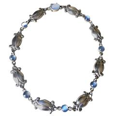 Georg Jensen Sterling Silver Necklace No. 15 with Moonstones