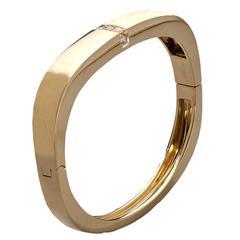 Mauboussin Diamond Gold Bangle Bracelet