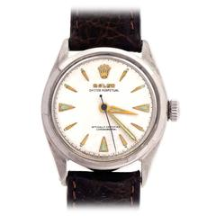 Rolex Stainless Steel Oyster Perpetual Datejust Wristwatch Ref 6084