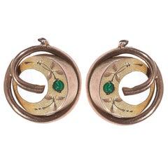 Tourmaline Gold Earrings