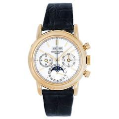 Patek Philippe Yellow Gold Perpetual calendar Automatic Wristwatch