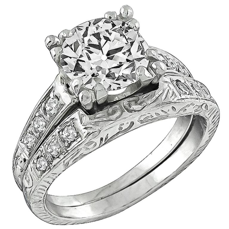 platinum wedding ring sets antique platinum engagement ring and wedding band 6635