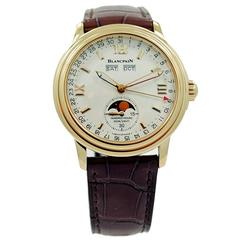 Blancpain Yellow Gold Leman Moonphase Wristwatch