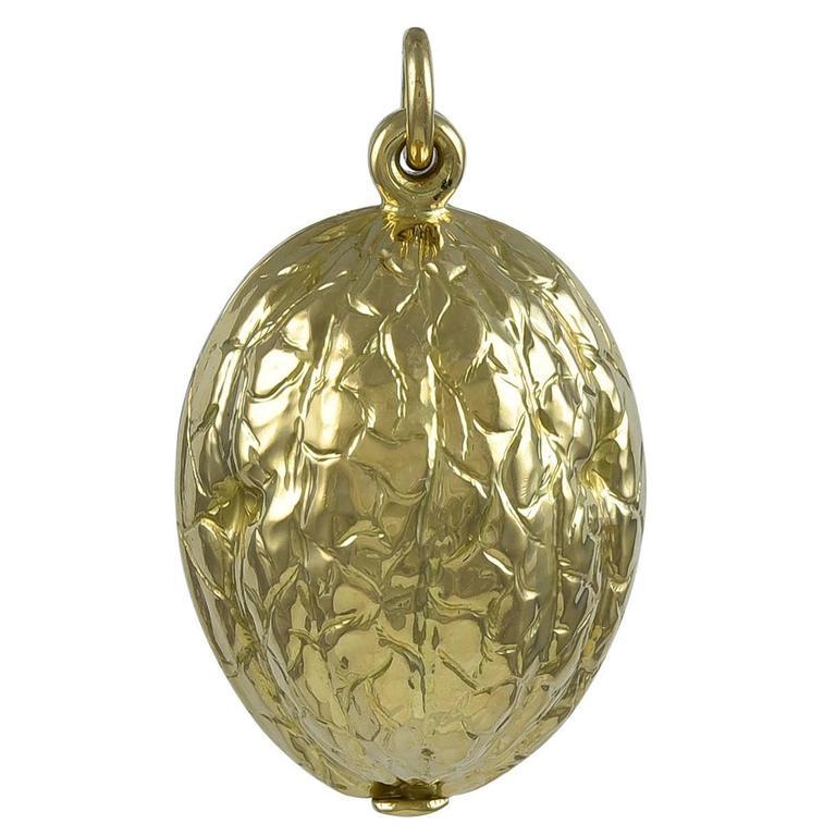 Walnut Gold Locket For Sale