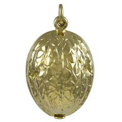 Walnut Gold Locket