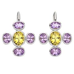 Colleen B. Rosenblat amethyst golden beryl gold earrings