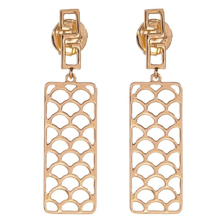 Jade Jagger Opium Wave Gold Earrings For Sale