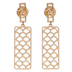 Jade Jagger Opium Wave Gold Earrings