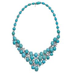 Piaget Turquoise Diamond Gold Necklace